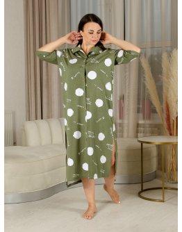 """Платье """"Карина"""" оливка, трикотаж"""