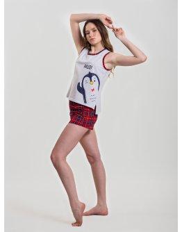 "Пижама ""Пингви 1"" шорты, трикотаж"