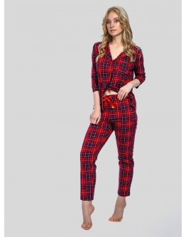 "Пижама ""Классика"" красная, трикотаж"