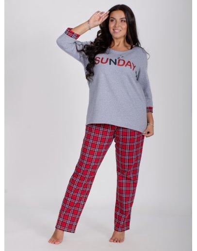 """Пижама """"Сандэй"""", футер начес"""