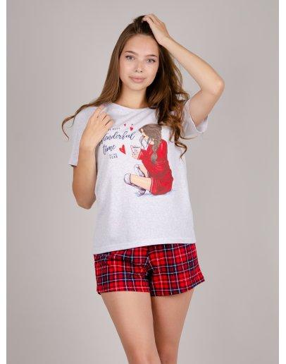 """Пижама """"Элен 3"""" шорты, трикотаж"""