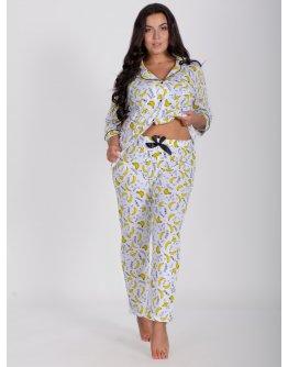 """Пижама """"Классика"""" бананы, трикотаж"""