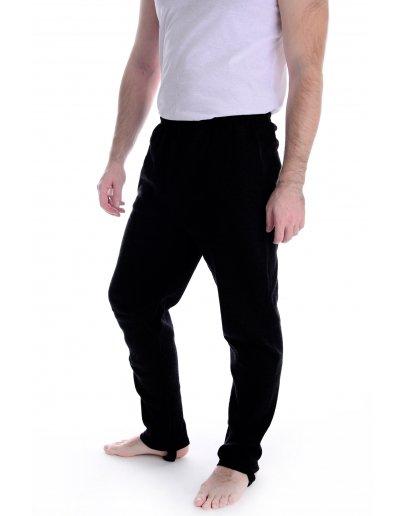 Трико Футер со штрипками, черное