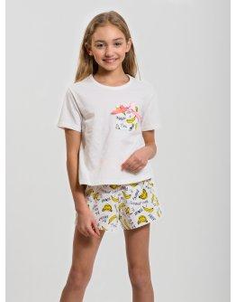 "Пижама ""ПД-21"" бананы, трикотаж"