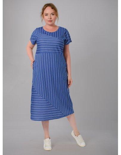"""Платье """"Пари"""" синее, трикотаж"""