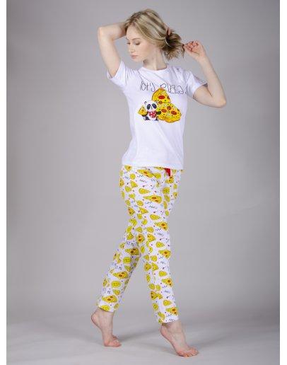 "Пижама ""Пицца 4"" брюки, трикотаж"